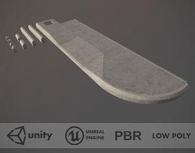 3D model Sidewalk - Modular Set 4