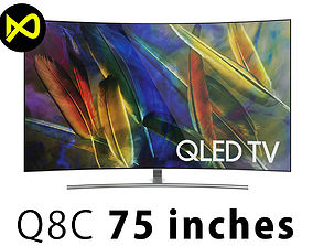 3D Samsung Q8C 75 Inch QLED 4K TV