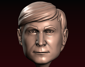 3D printable model Male head 22 a man with a stylish