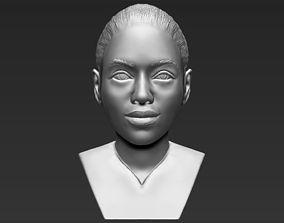 Beyonce Knowles bust 3D printing ready stl obj