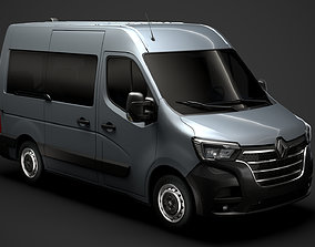 Renault Master L1H2 WindowVan 2020 3D model