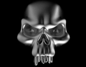 3D print model skull ring jewelry jaw