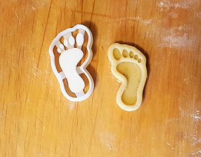Foot cookie cutter 3D print model dining