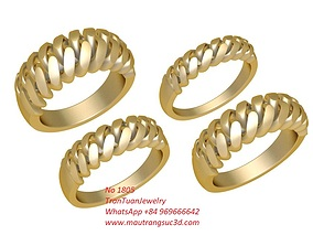 3D printable model 1805 Chain Gold Ring