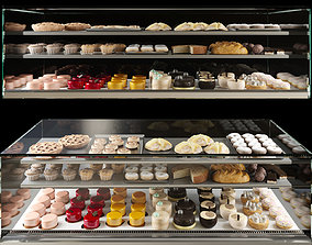 Fridge with desserts 3D