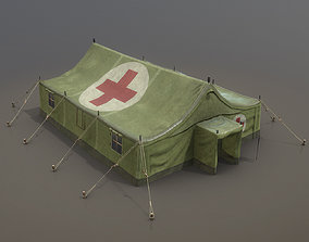 Military Tent 01 MedicalForest 3D model