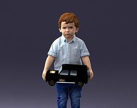 Boy with toy car 1016 3D Print Ready