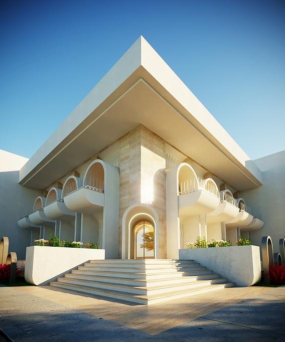 3D Model office building