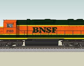 3D Train Engine - Railroad Locomotive - EMD