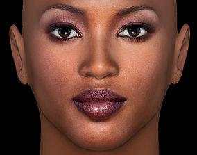 Head Model 19 - Naomi Campbell