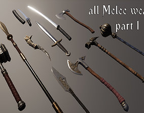 all melee weapons 3D model