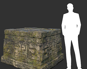 Low poly Mossy Ruin Temple Element 03 190403 3D model