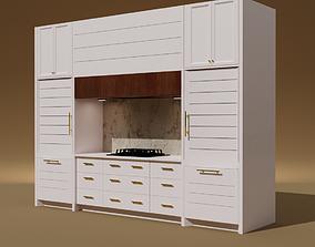 Kitchen Cabinet Modern Design 3D asset