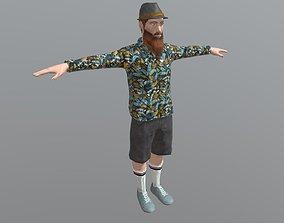 3D asset Male Character - Skater