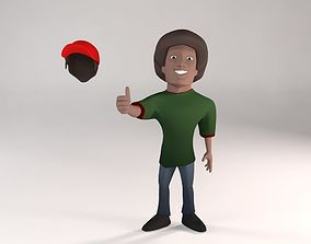 3D model Cartoon Black Guy