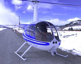3D model News Helicopter for fbx and Unity