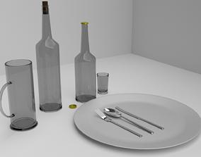 3D asset Restaurant Accessories