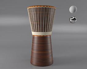 African Drum 3D model