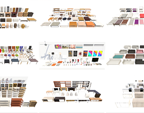 Contemporary Furniture Collection 3D model