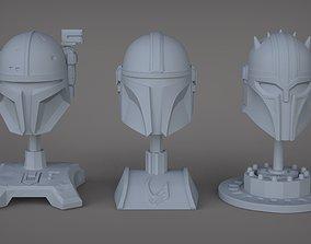 The 3 Mandalorians 3D print model