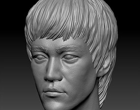 character 3D printable model Bruce Lee