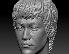 male 3D printable model Bruce Lee