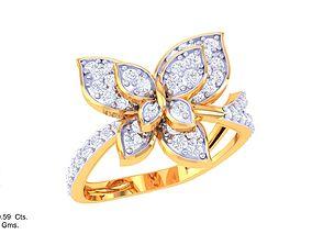 3D printable model ring diamond DL-44