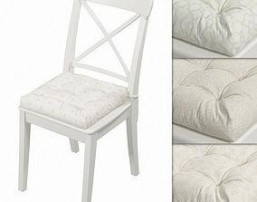 Ikea Ingolf chair with a pillow Hoff White fabrics 01 3D