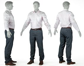 3D asset Male Casual Outfit 45 Shirt Pants