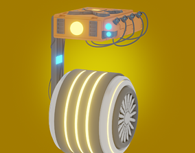 3D model robot in the style of star wars game ready