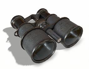 Black Vintage Binocular 3D model