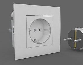 interior 3D model Plug and Socket Detailed