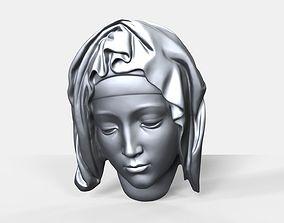 3D print model Pieta face bas relief