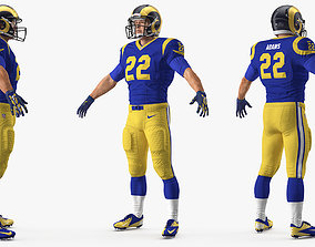 3D model Los Angeles Rams American Football Player