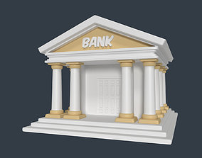 Cartoon Bank 3D model