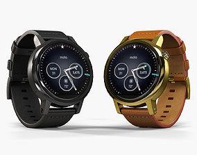 3D model Motorola Moto 360 2nd Generation 42mm smartwatch