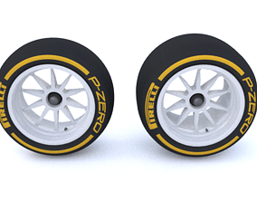 F1 2021 18 inch Tire 3D Model FIA Version VR / AR ready