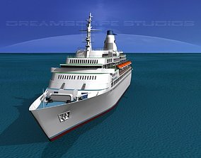 3D model Cruise Ship Pacific Princess