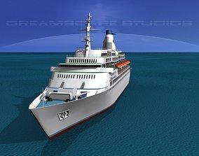 3D model Cruise Ship Pacific Princess