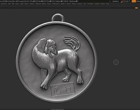 Dog zodiac sign symbol 3d print model