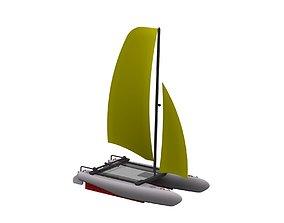 Catamaran catamaran 3D model