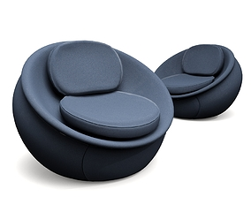 Swivel Jeans Chair 3D model