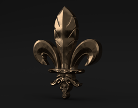 3D model Fleur De Lis Ornament and Zbrush Brush