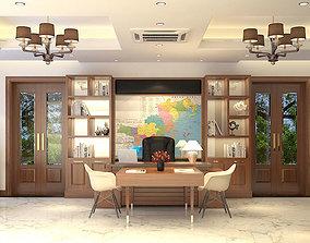3D Villa studyroom tropical