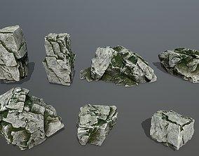 rock set 3D model realtime mount