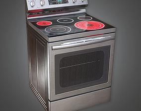 Kitchen Stove KTC - PBR Game Ready 3D model