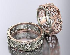 openwork wedding rings 3D print model