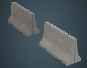Concrete Barrier 1A 3D asset
