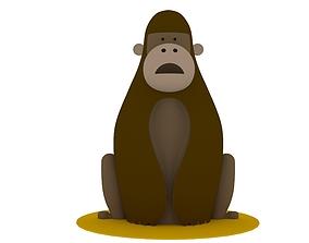 3d 3D Monkey Model