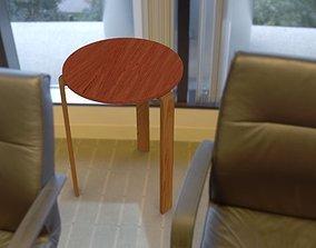 3D Maple kitchen stool